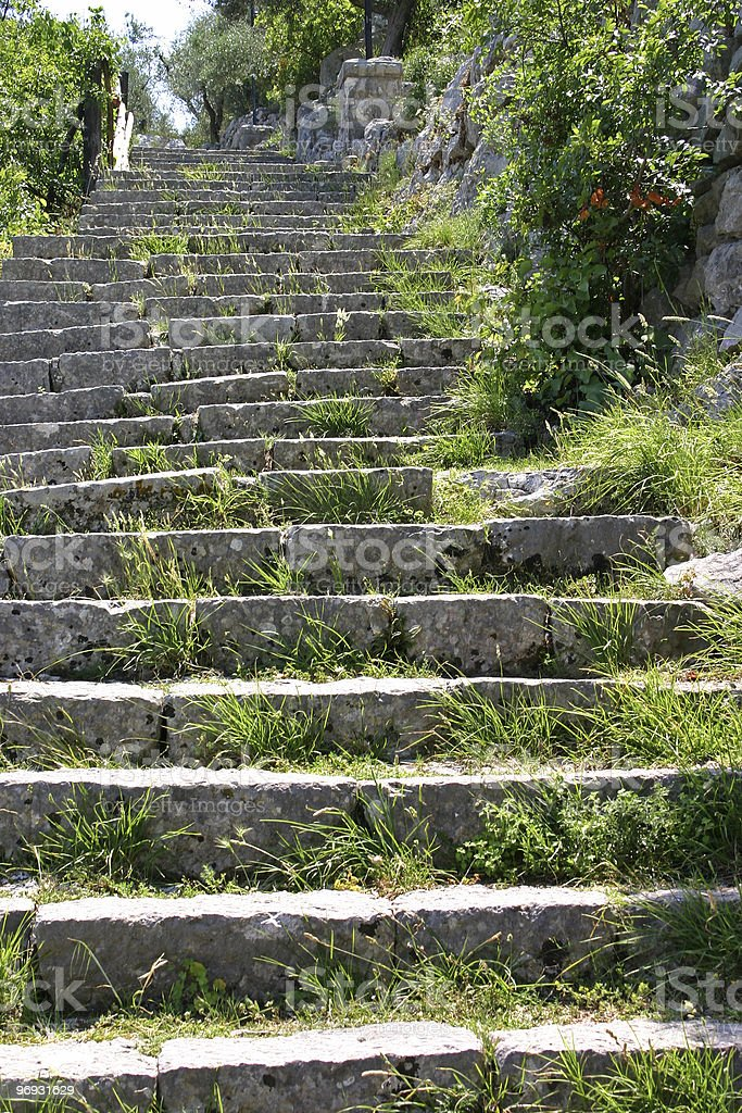 Weathered steps royalty-free stock photo