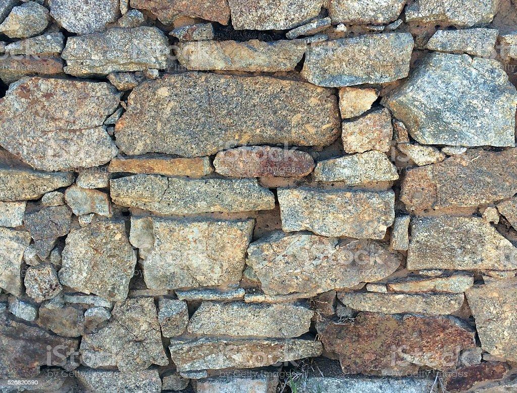 Weathered Stone wall stock photo