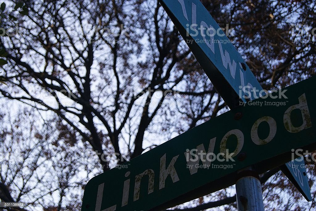 Weathered Street Sign royalty-free stock photo
