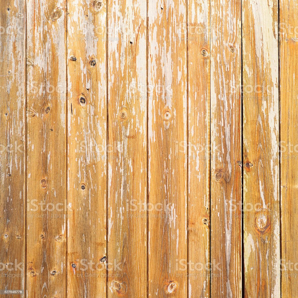 Weathered varnished wooden planks stock photo