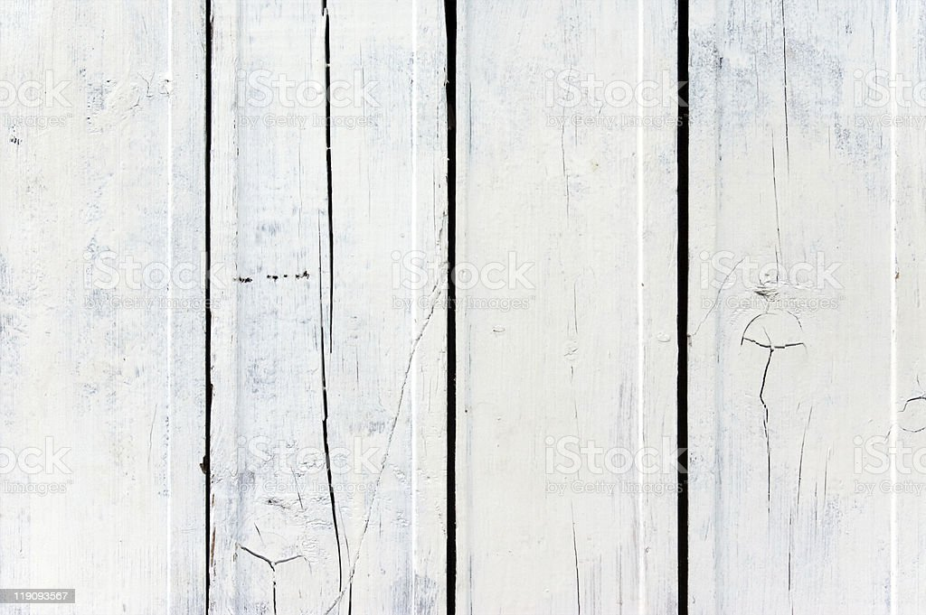 Weathered white wooden plank royalty-free stock photo