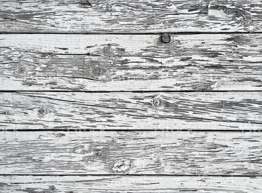 Weathered white wooden texture stock photo