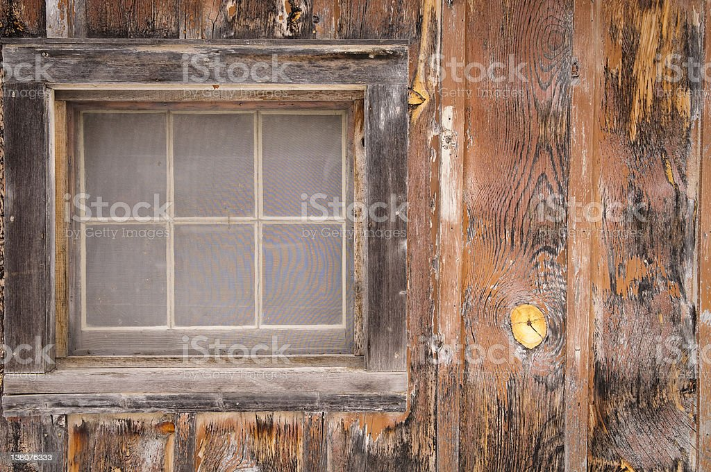 Weathered Window and Wall royalty-free stock photo