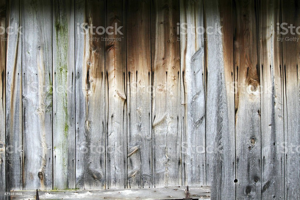Weathered Wood Barn Wall royalty-free stock photo