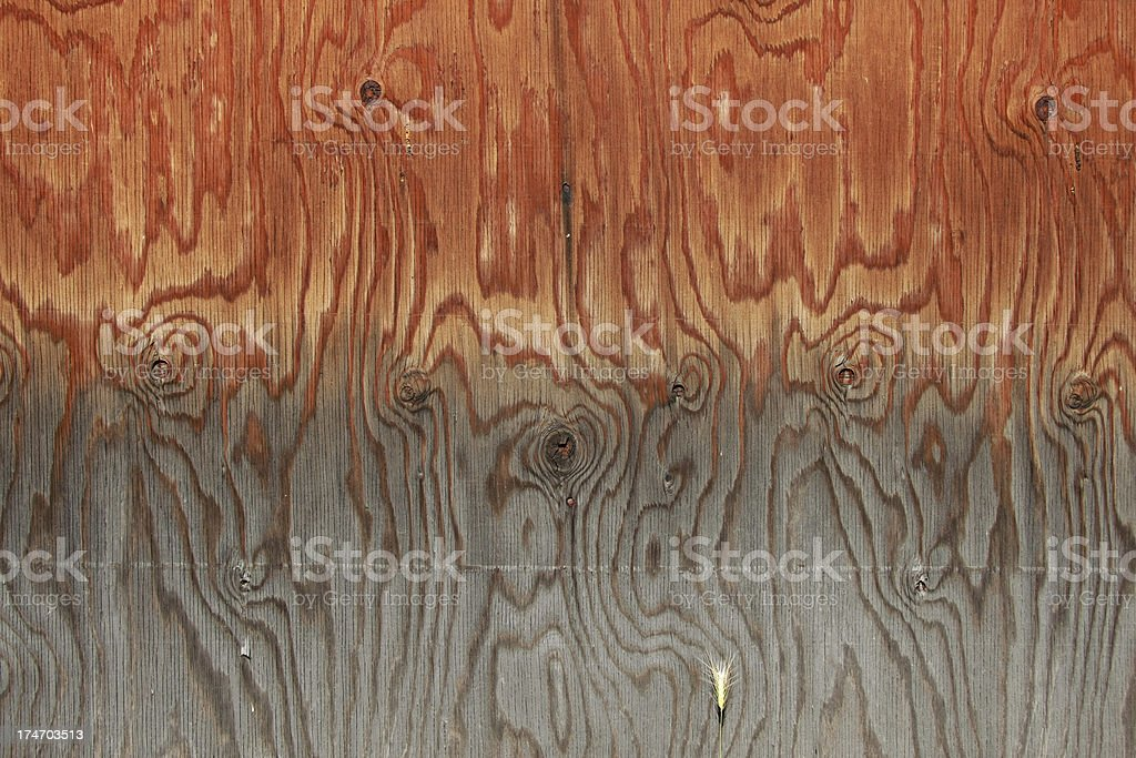 Weathered Wood Grained Planks royalty-free stock photo
