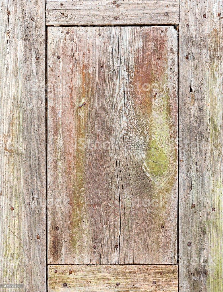 Weathered Wood Panel Background royalty-free stock photo