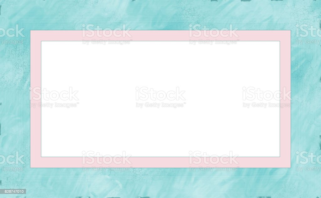 Weathered Wood Photo Painting Picture Frame stock photo