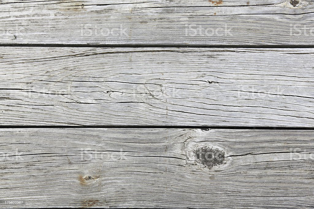 Weathered Wood Planks Close-Up royalty-free stock photo