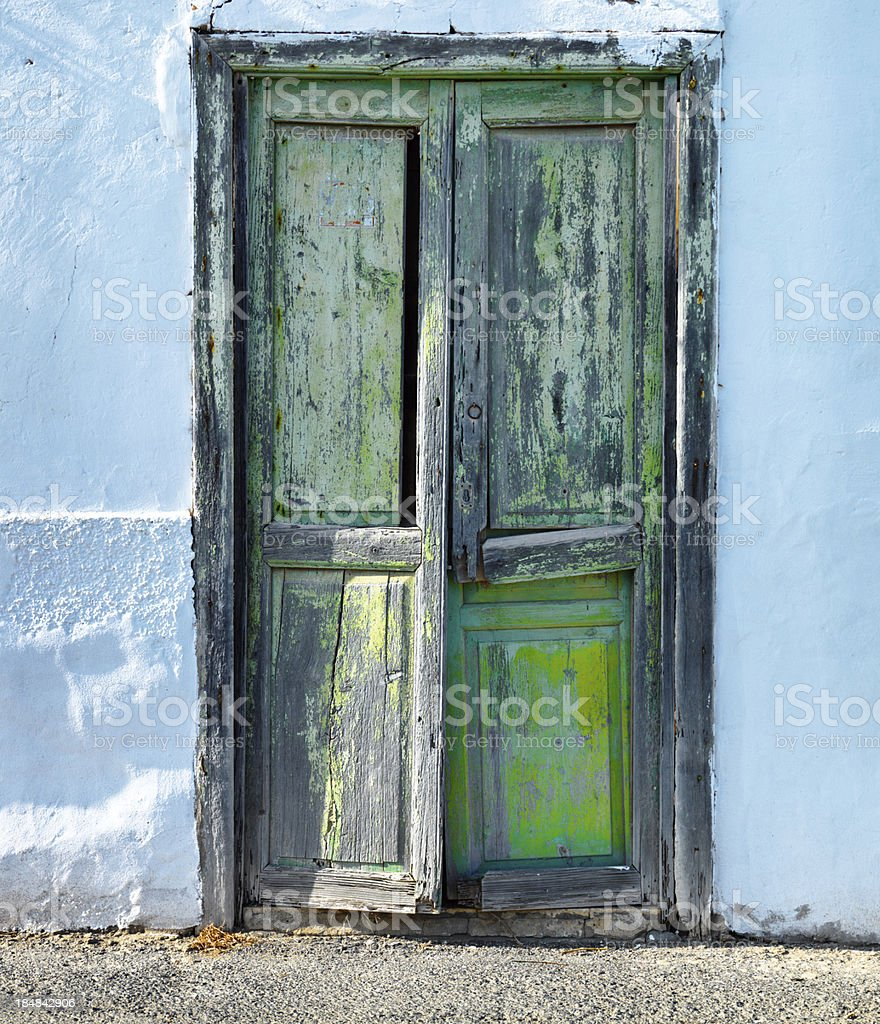 weathered wooden door royalty-free stock photo