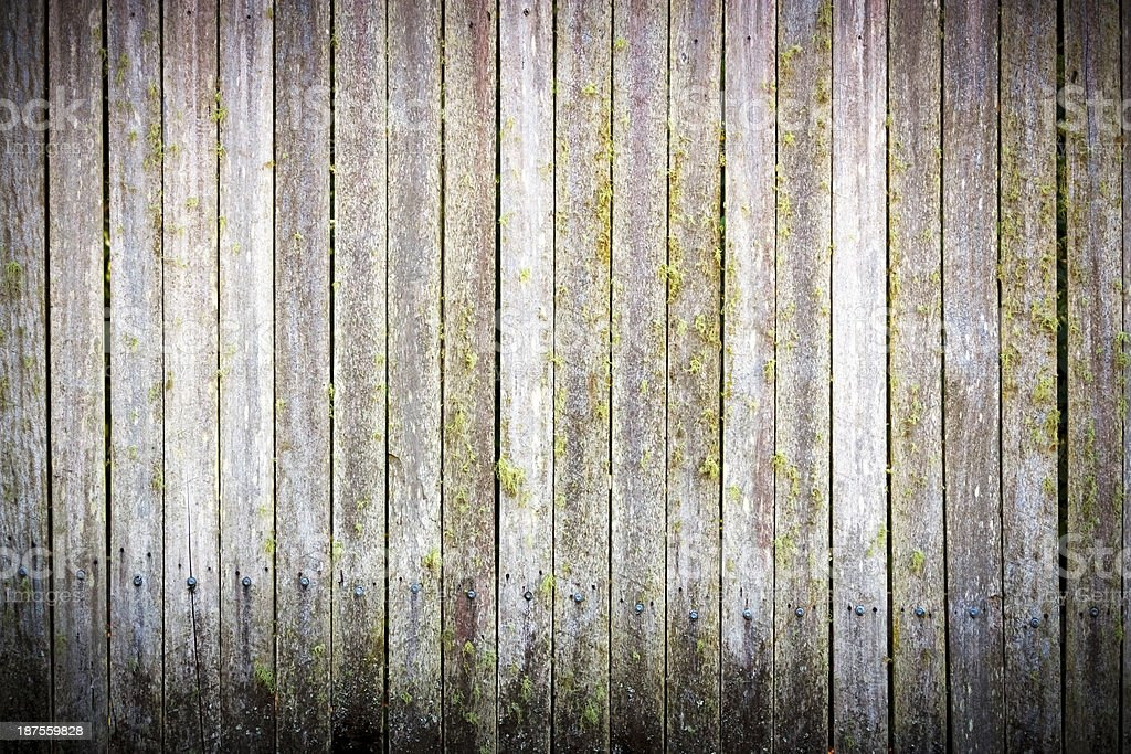 Weathered wooden fence, copy space and vignette royalty-free stock photo
