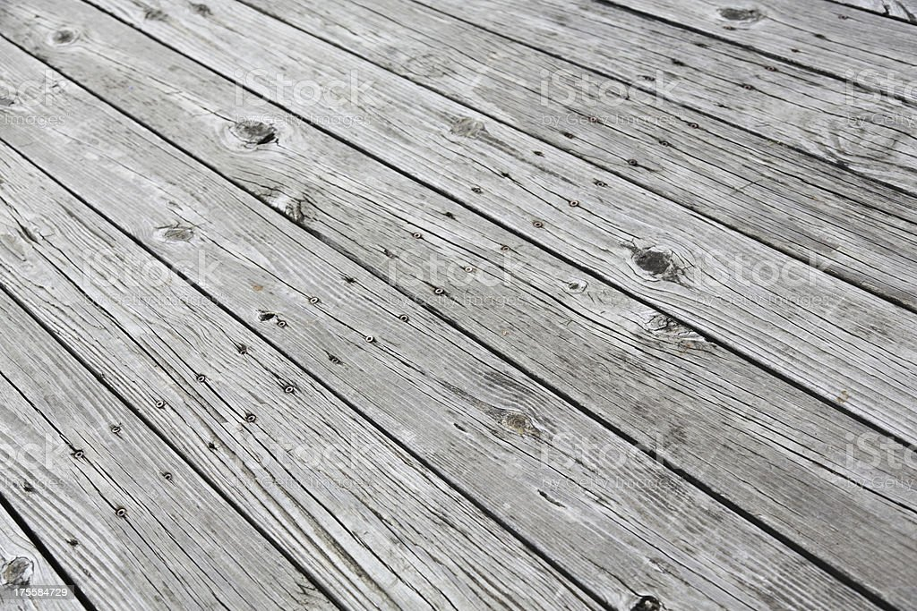Weathered Wooden Floor royalty-free stock photo