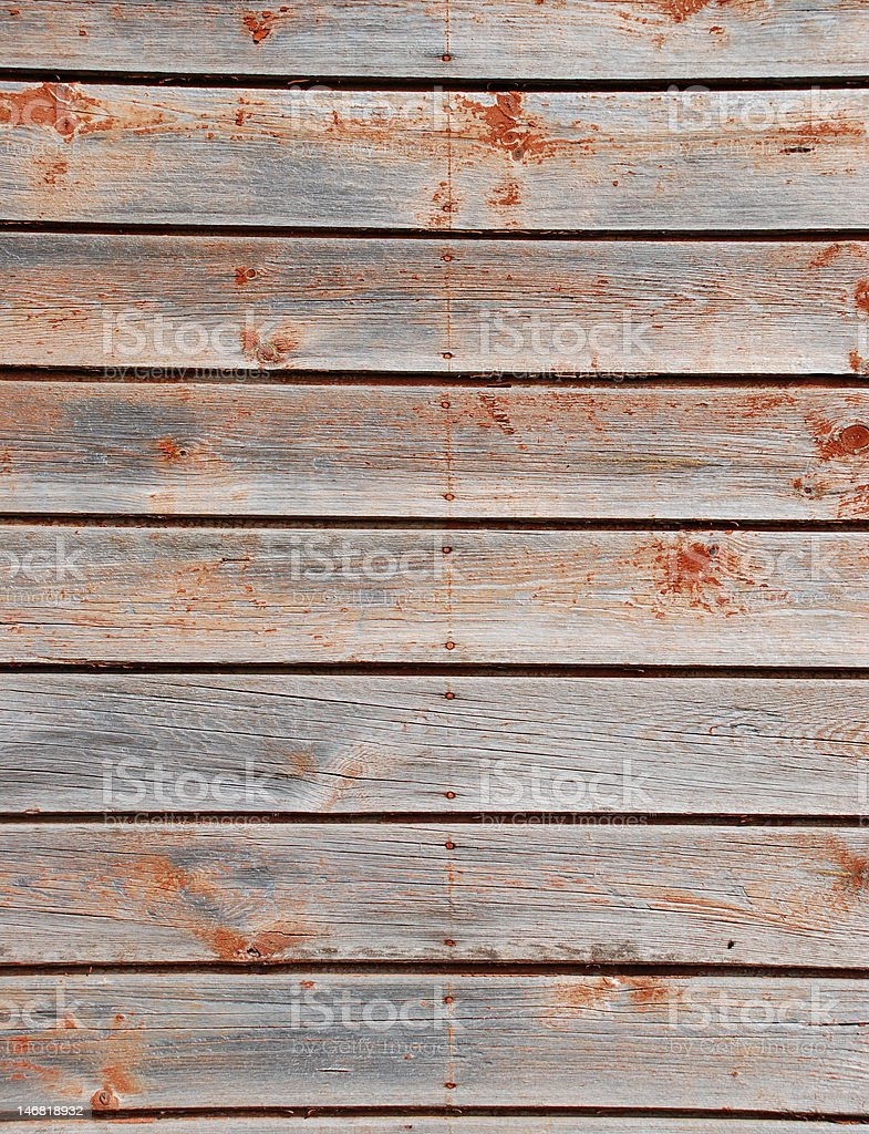 Weathered, wooden planks royalty-free stock photo