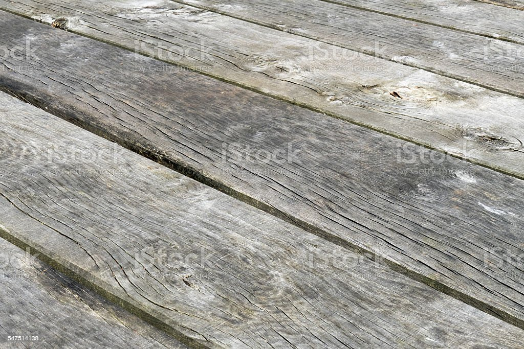Weathered wooden planks. stock photo
