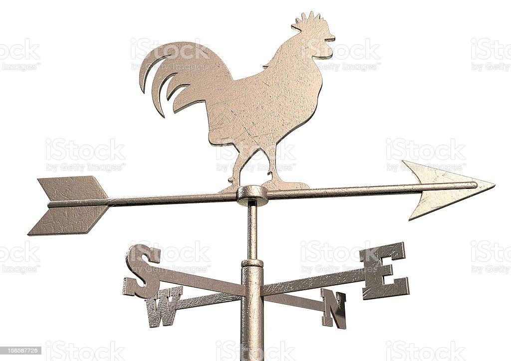 Weathervane Cockerel Isolated stock photo