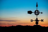 Weathervane in a Sunset