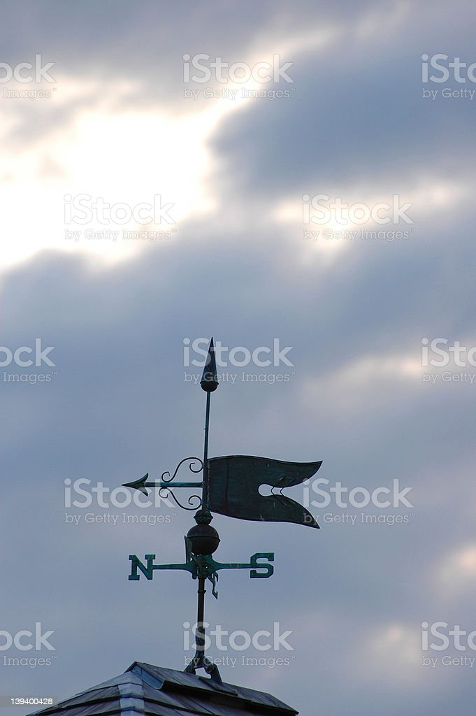Weathervane on cloudy day royalty-free stock photo
