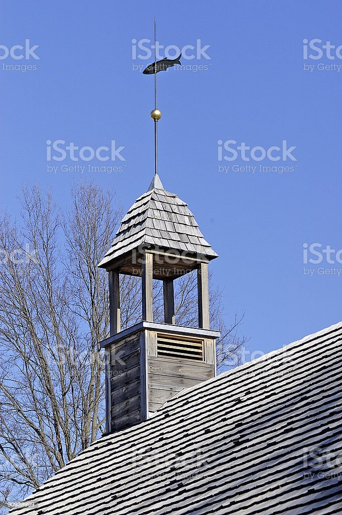 weathervane on old church royalty-free stock photo