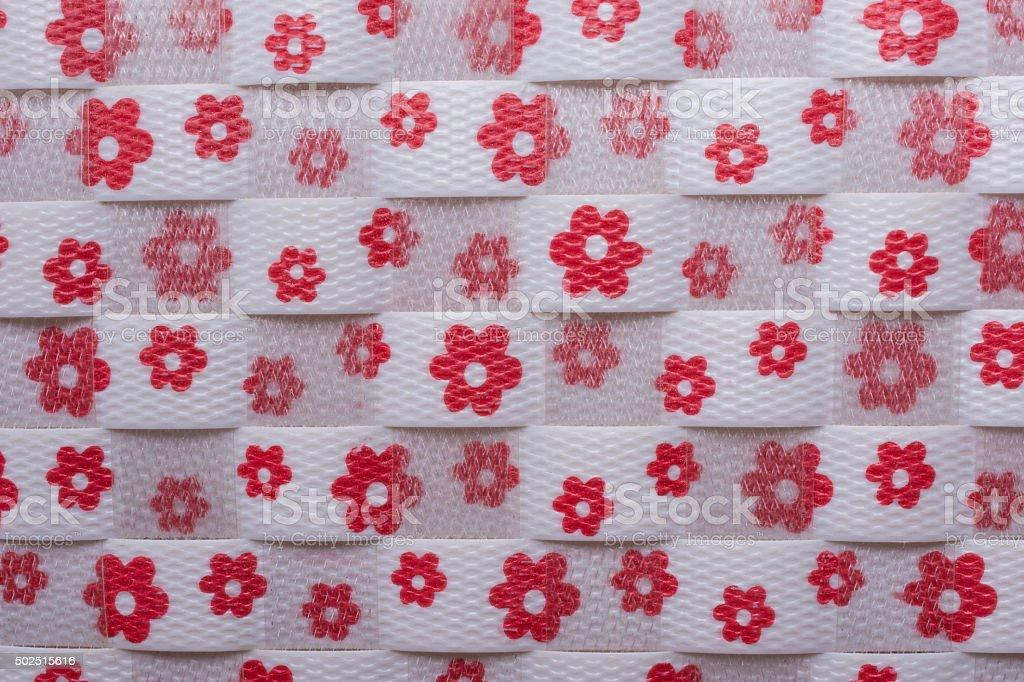 weave flower pattern stock photo