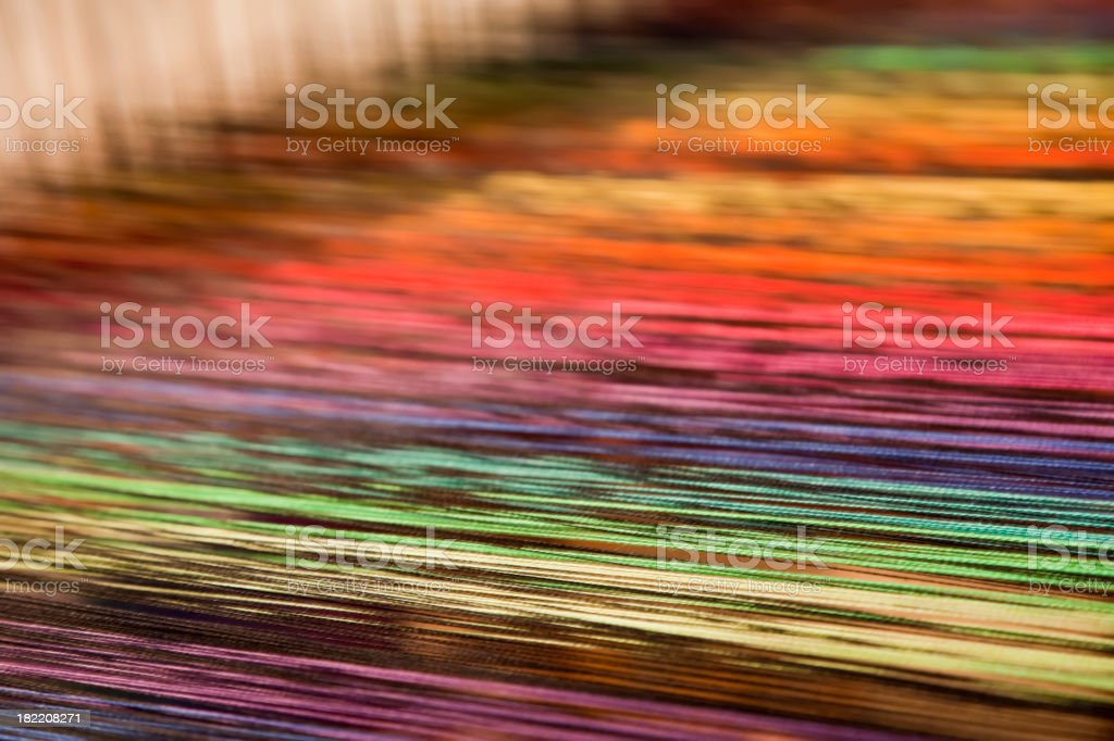 Weave with many colorful threads (XXXL) stock photo