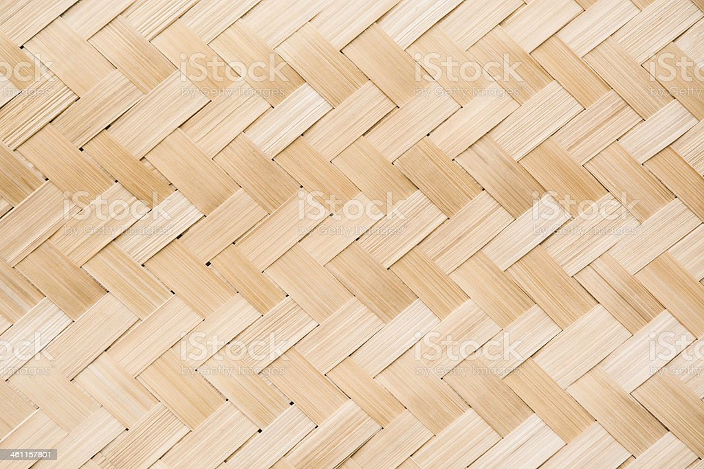 Weaved light colored bamboo texture stock photo