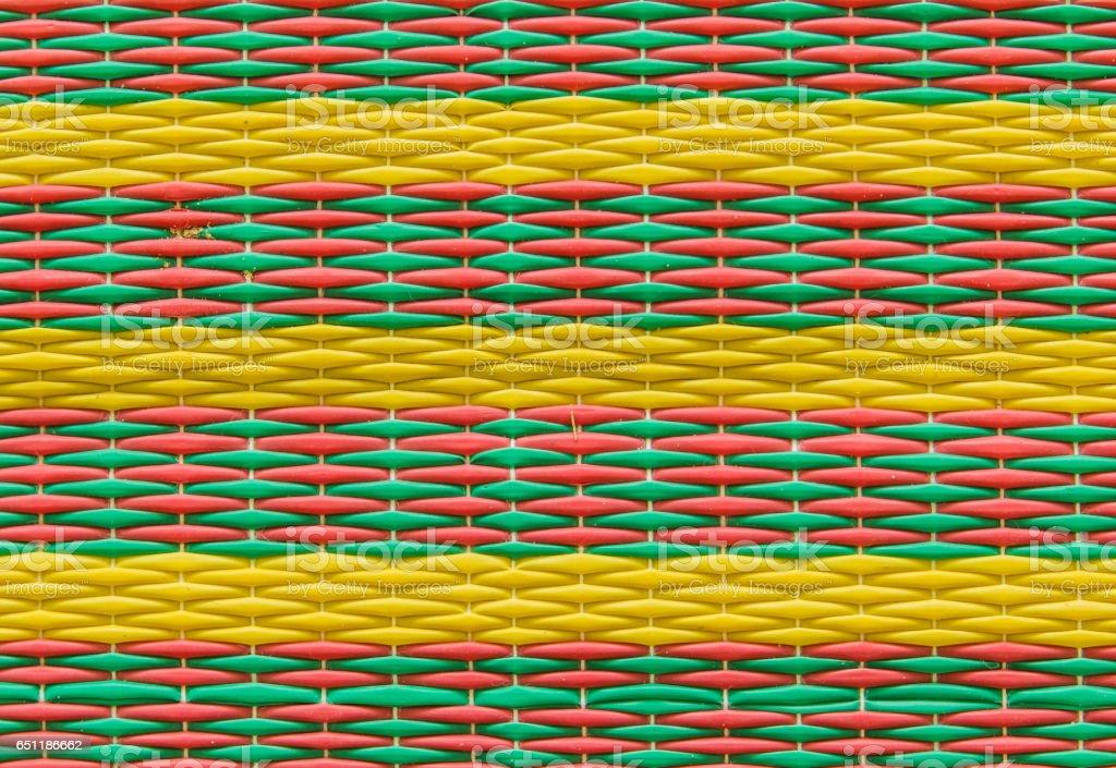 Weaved mat stock photo