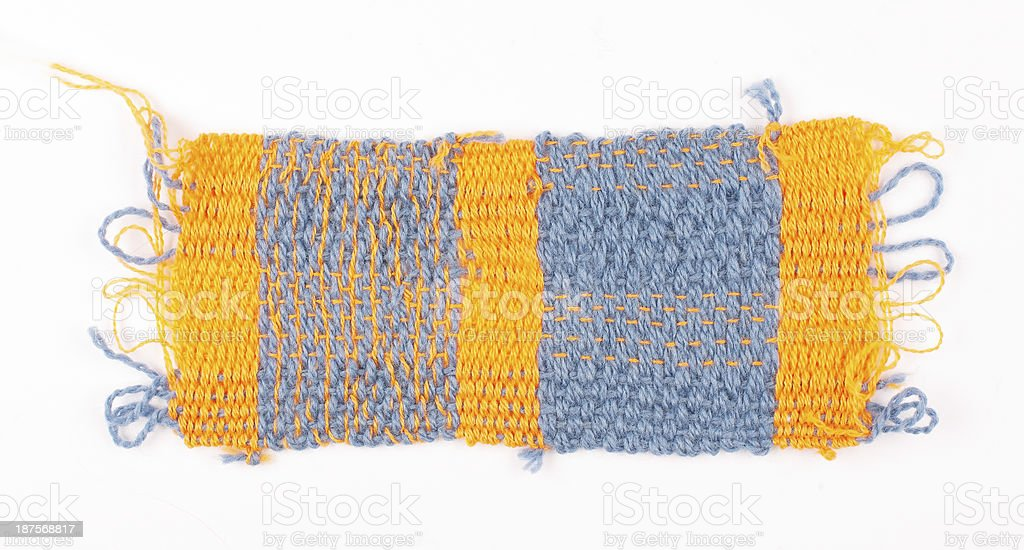 Weaved Piece of Cloth Pattern royalty-free stock photo