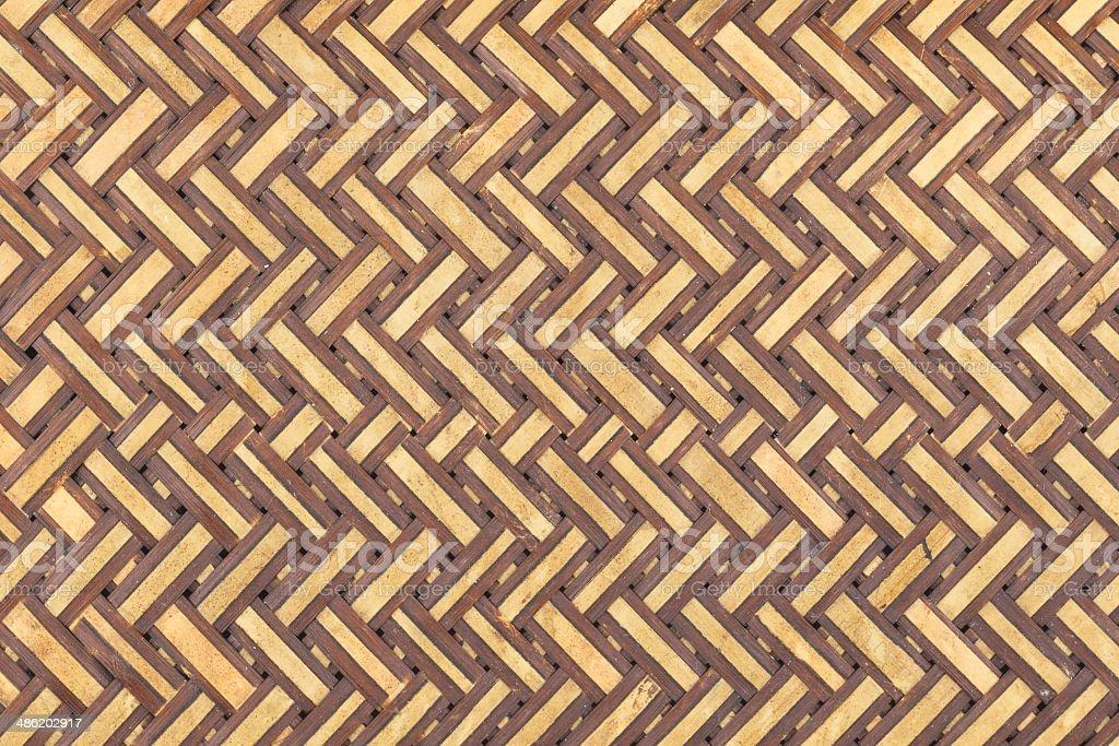 weaving bamboo straw stock photo
