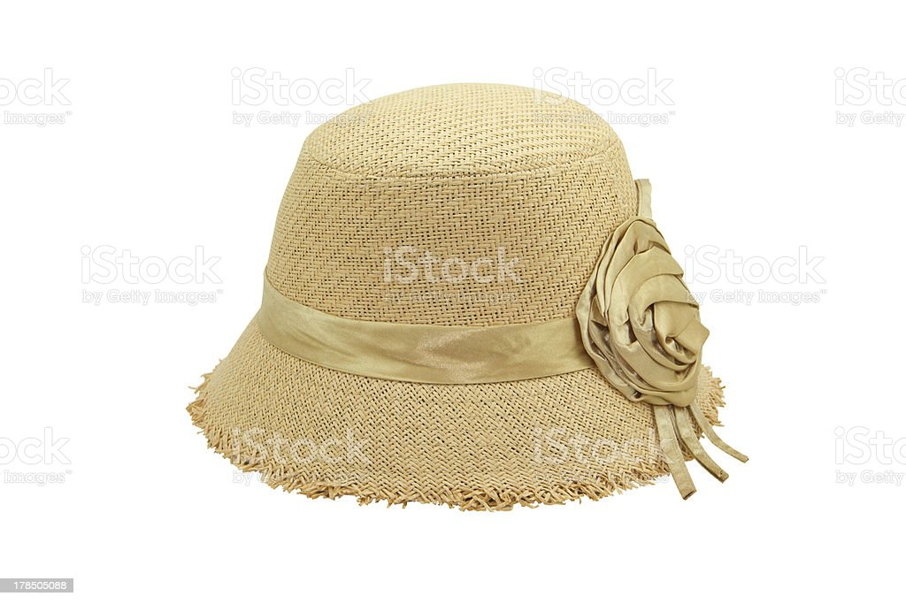 Weaving hat isolate royalty-free stock photo