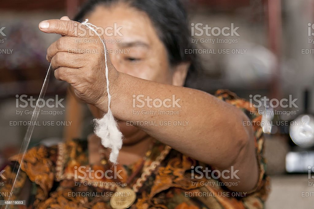 Weaving in Guatemala royalty-free stock photo