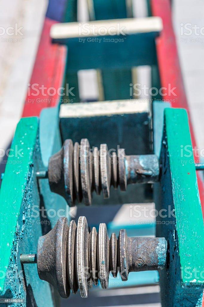 Weaving machine stock photo