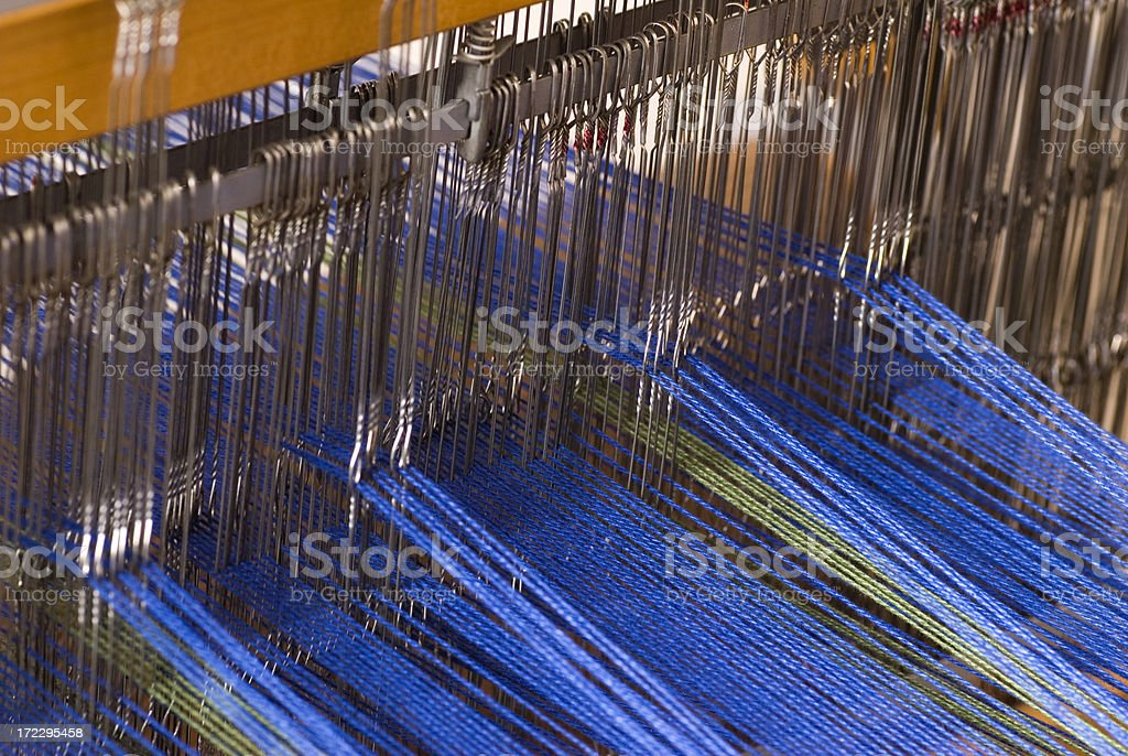 Weaving on a Loom - Series stock photo