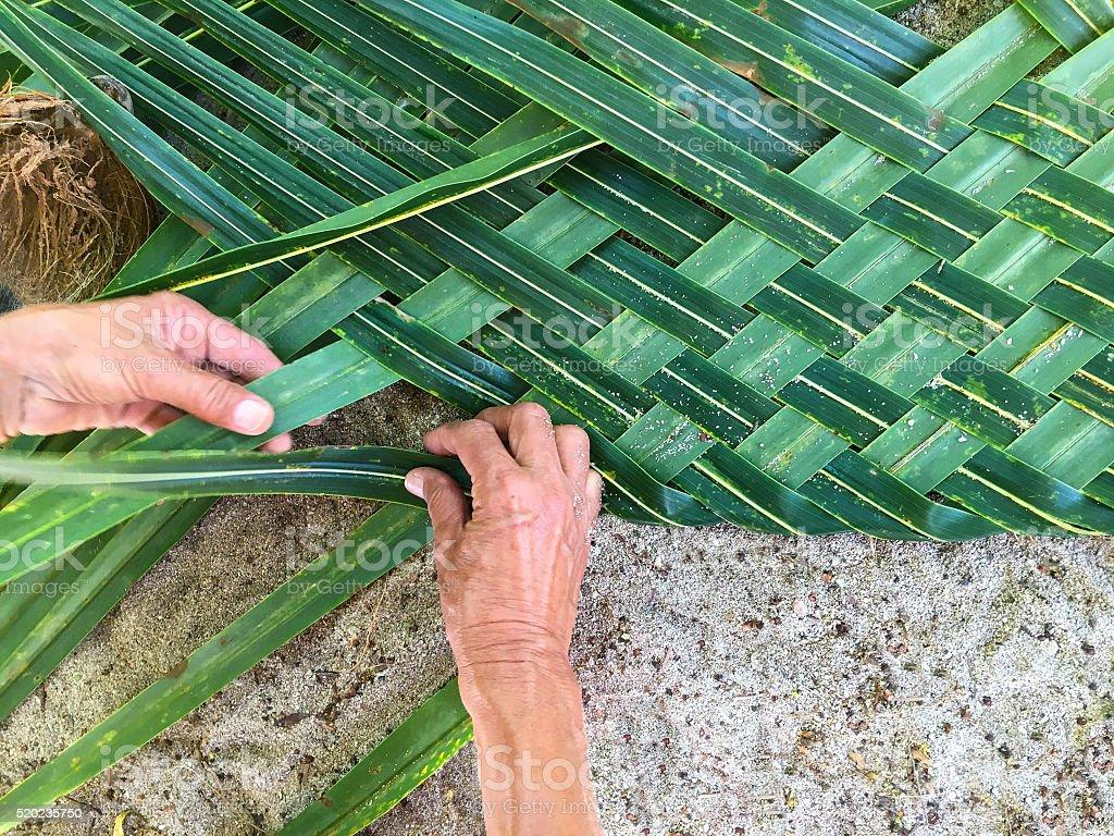 Weaving palm stock photo