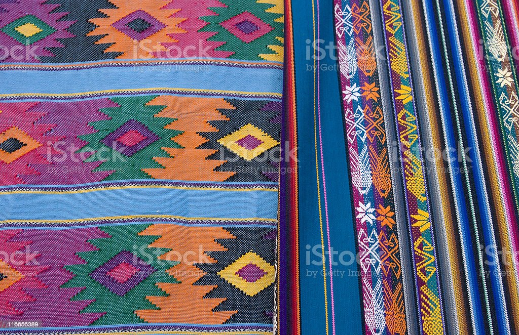 Weavings, Textile, Blanket, Southwest Pattern, Native American, Vivid Color royalty-free stock photo