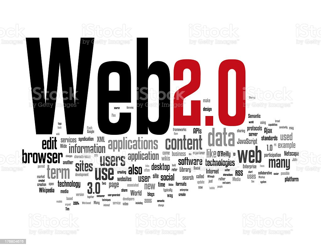 Web 2 collage concepts stock photo