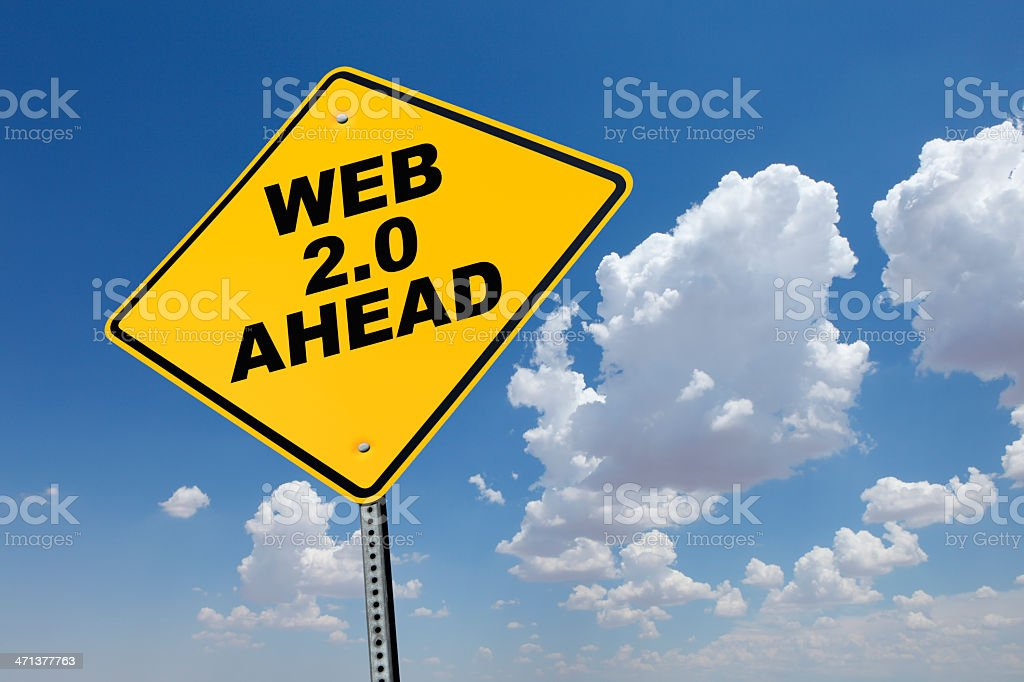 Web 2.0 Ahead stock photo