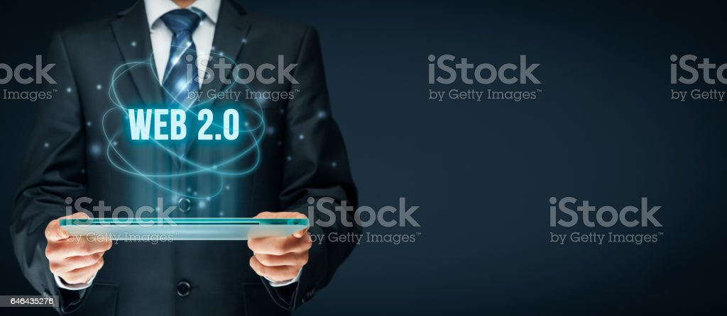Web 2.0 internet stock photo