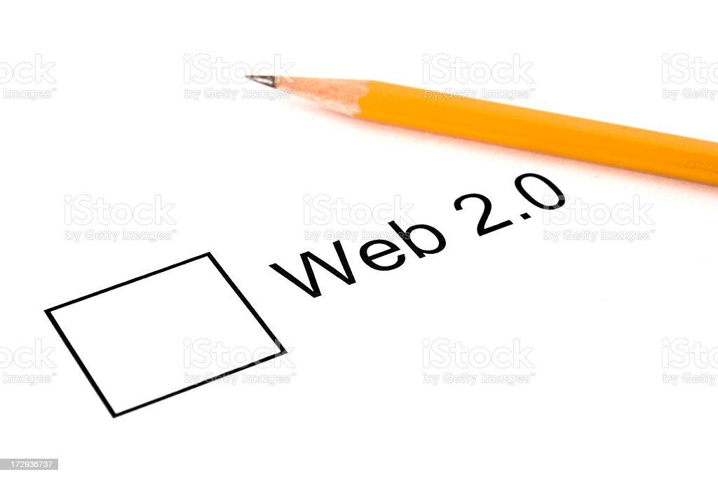 Web 2.0 royalty-free stock photo