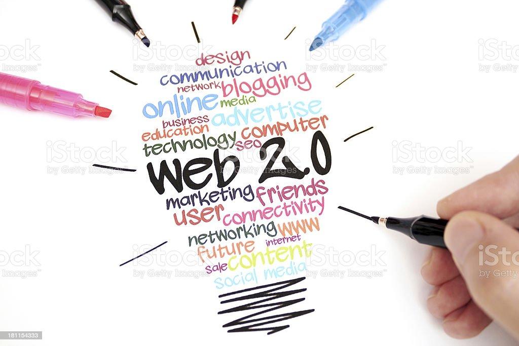 web 2.0 stock photo