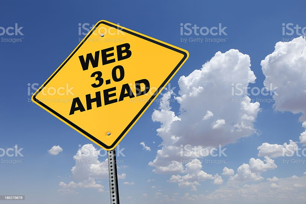 Web 3.0 Ahead stock photo