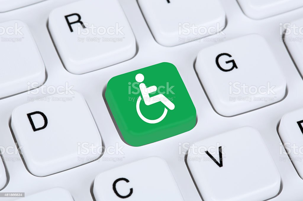 Web accessibility online on internet website computer people with disabilities stock photo
