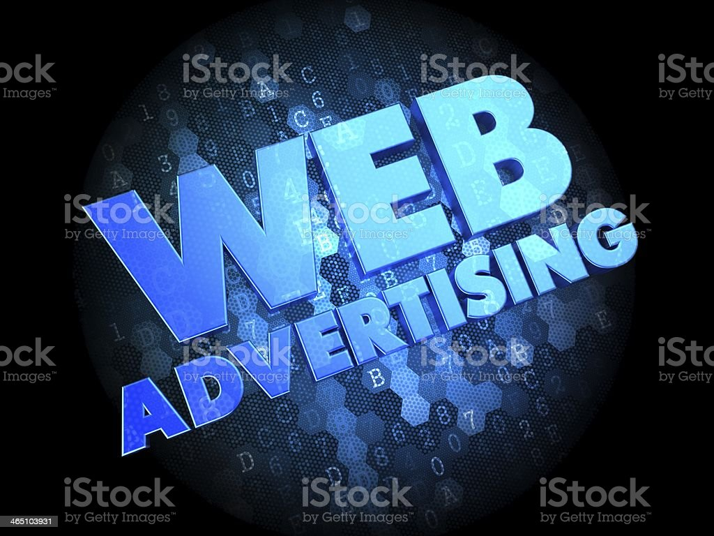 Web Advertising on Dark Digital Background. royalty-free stock photo