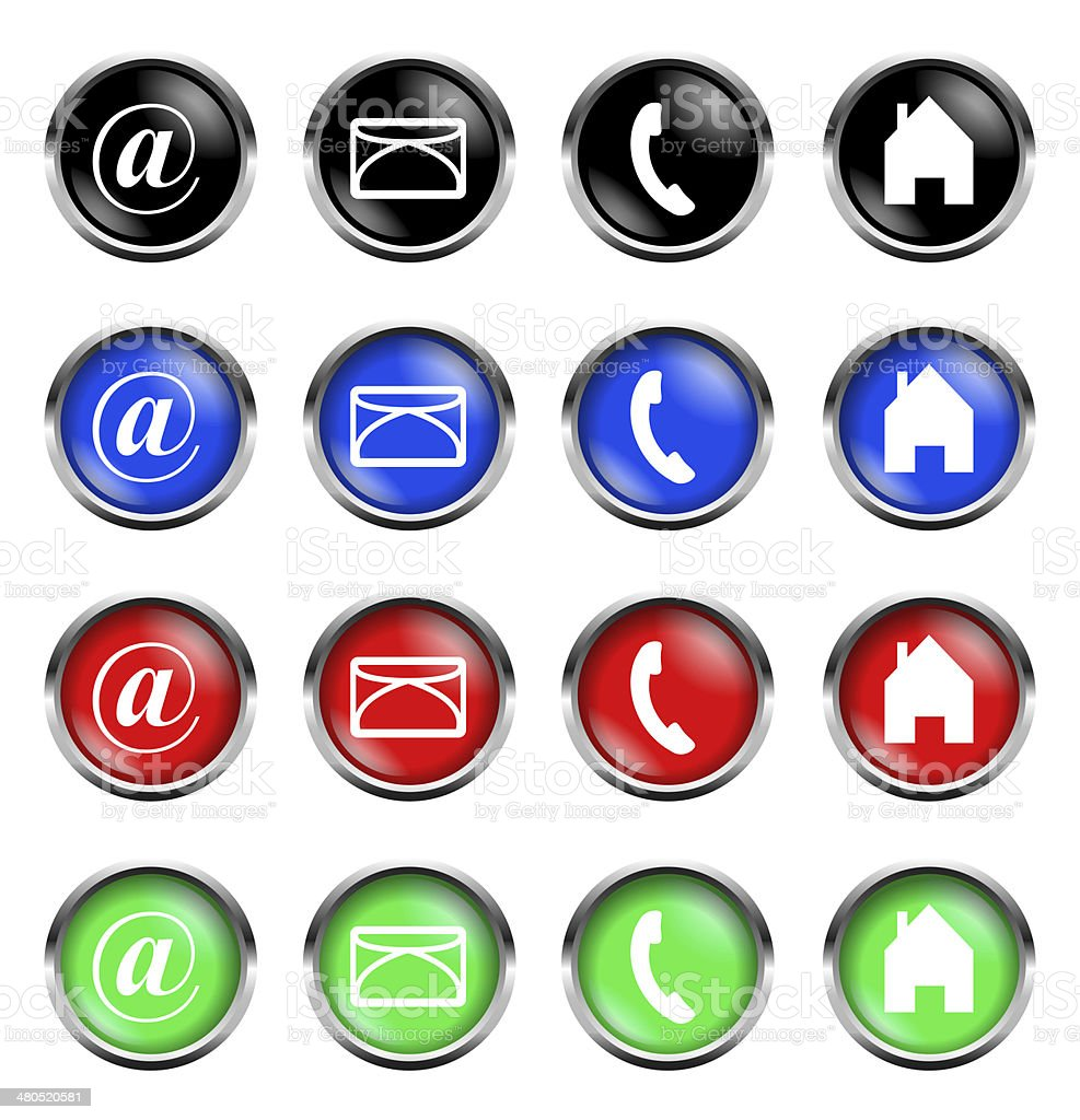 web button collection isolated stock photo