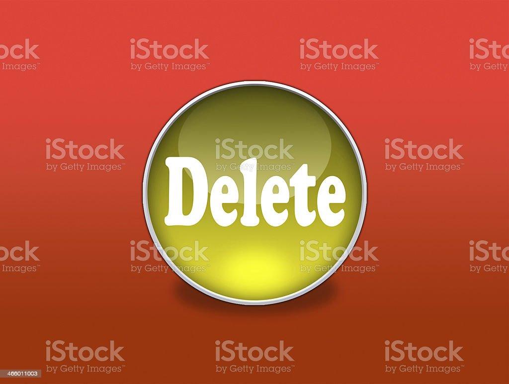 Web Button - Delete stock photo