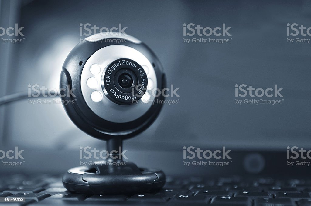 Web cam with a 10x digital zoom and 8 5 megapixel  royalty-free stock photo