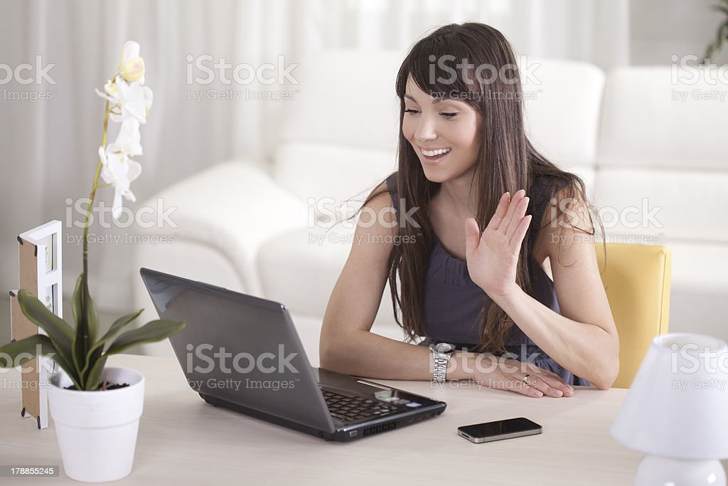 Web chat. stock photo