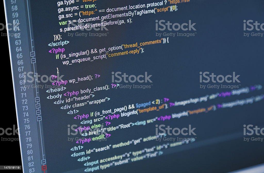 Web Code stock photo