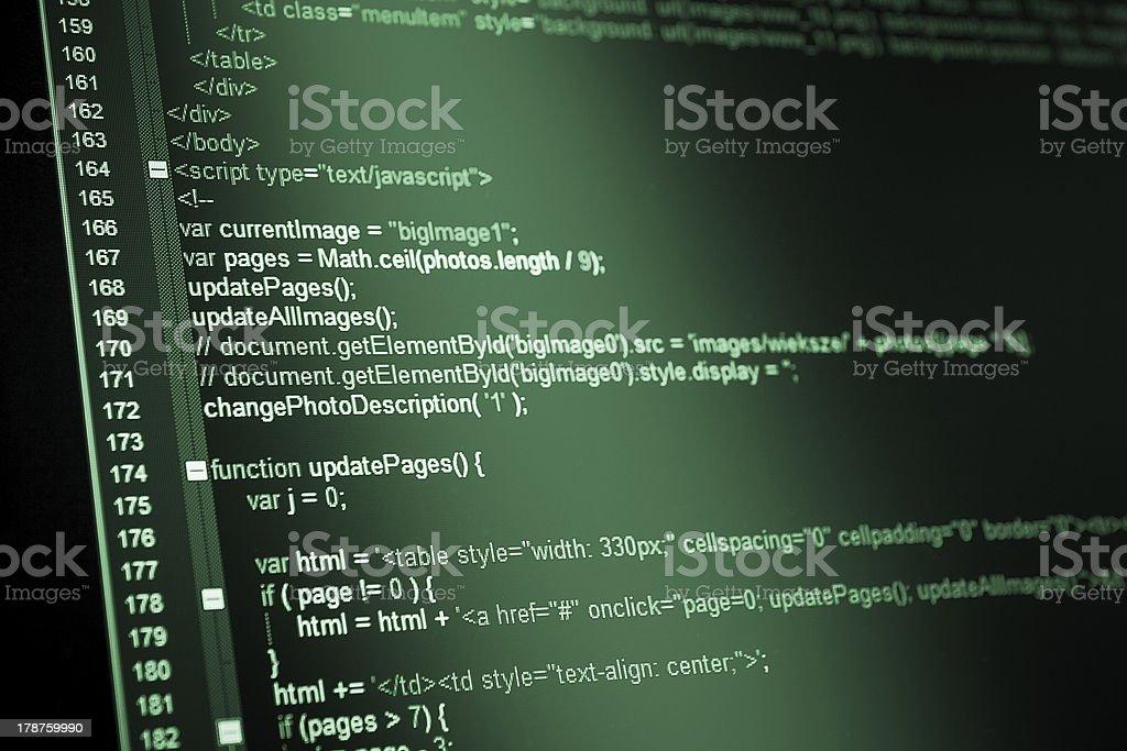 HTML web code royalty-free stock photo