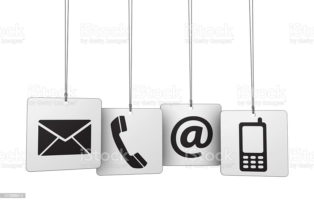 Web Contact Us Icons Tags stock photo