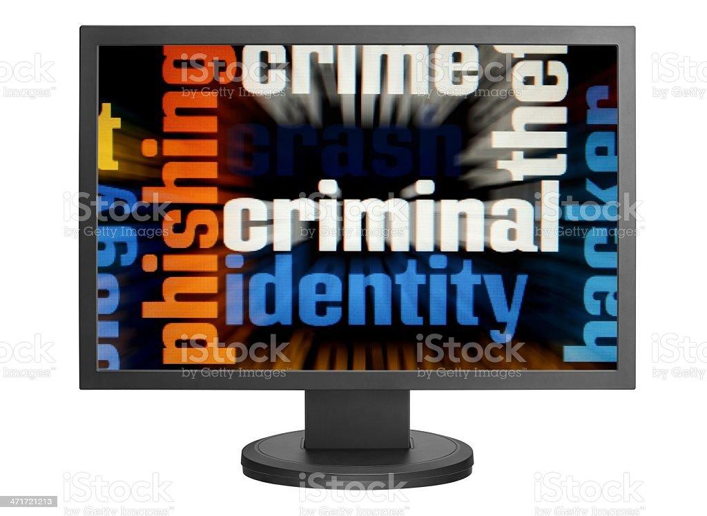 Web criminal royalty-free stock photo