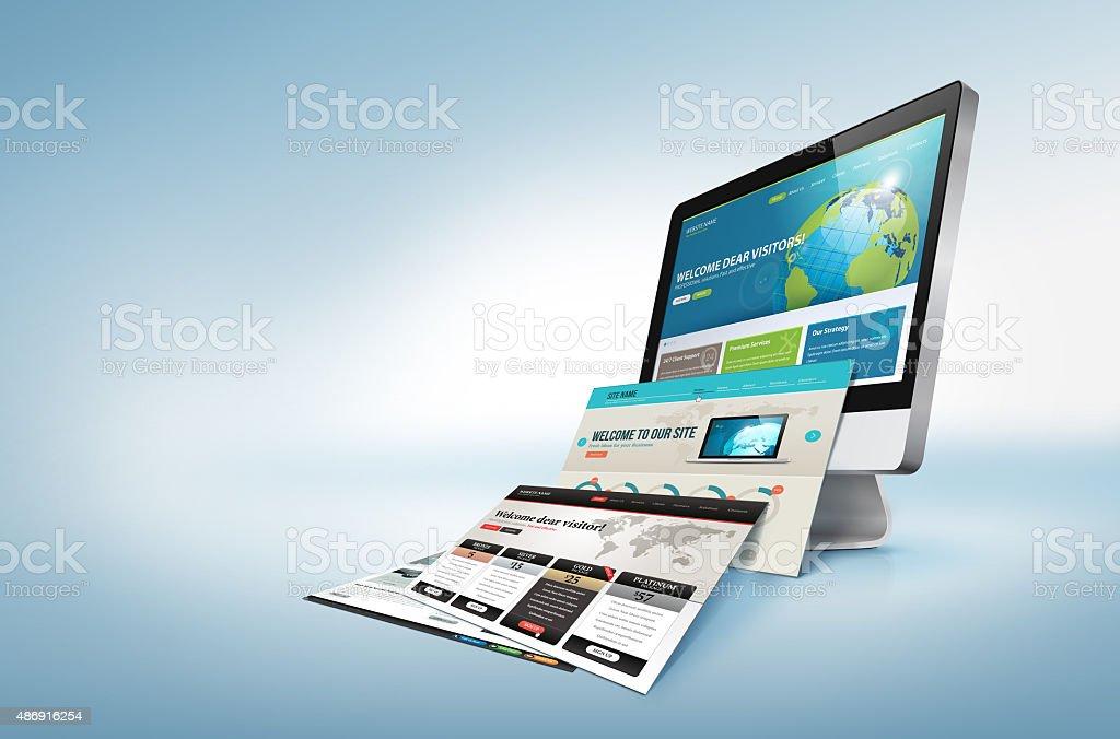 Concepto de diseño Web foto de stock libre de derechos